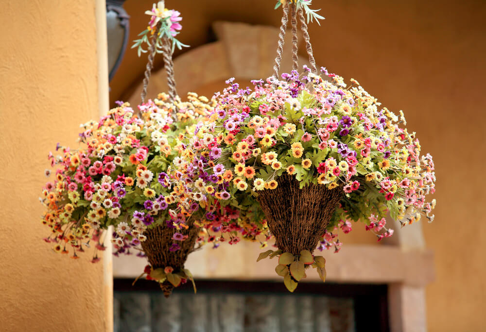 Flower Tower Hanging Baskets : Hanging flower planter ideas photos and top