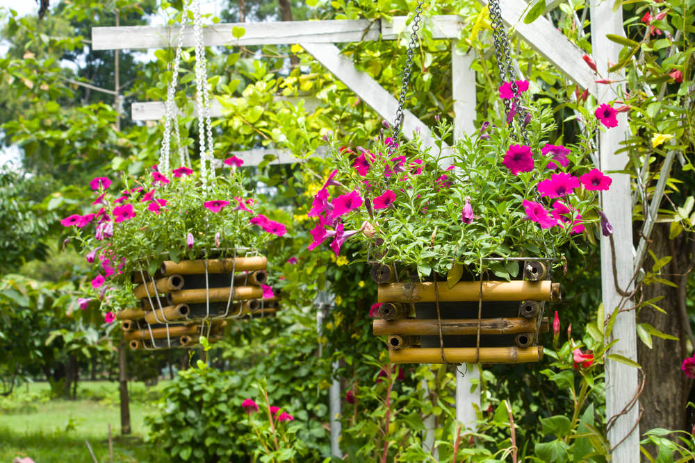 70 hanging flower planter ideas photos and top 10 home - Wooden containers for flowers ...