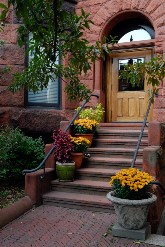 Old and dusty steps are decorated with huge pots of different styles and  colors  Add. 64 Outdoor Steps with Flower Planters and Pots Ideas  Pictures