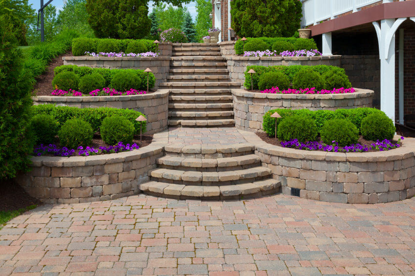60 outdoor garden landscaping step ideas for Outdoor steps ideas