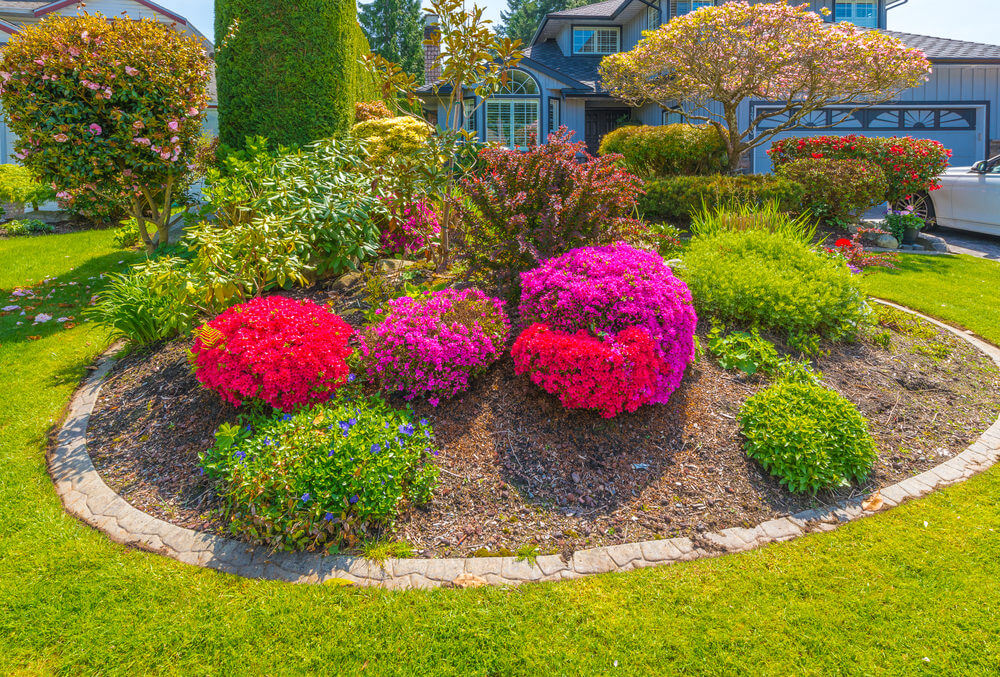 101 front yard garden ideas awesome photos for Round flower garden designs
