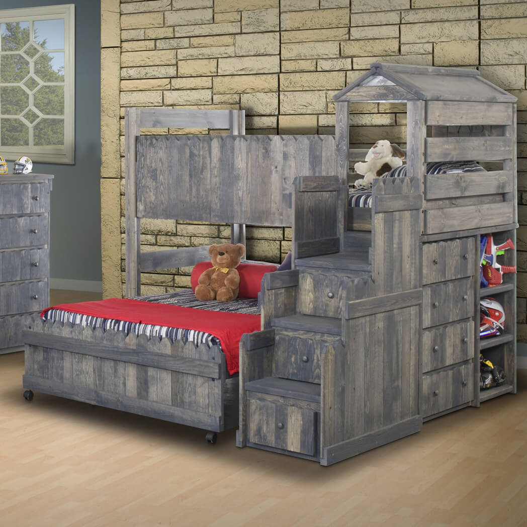 castle lshaped bunk bed with stairs - L Shape Bedroom 2016