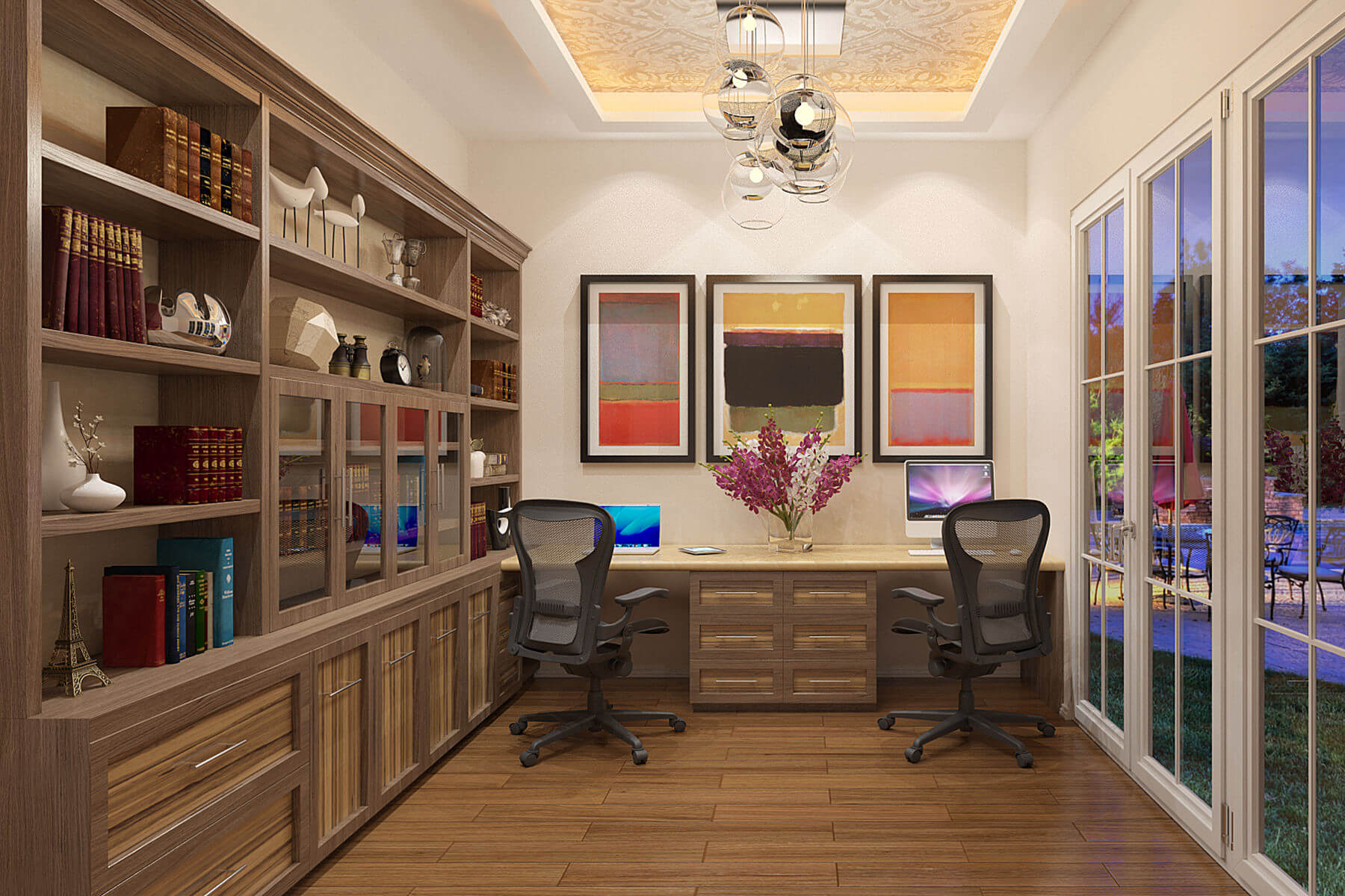 26 home office designs desks shelving by closet factory for Ultimate office design