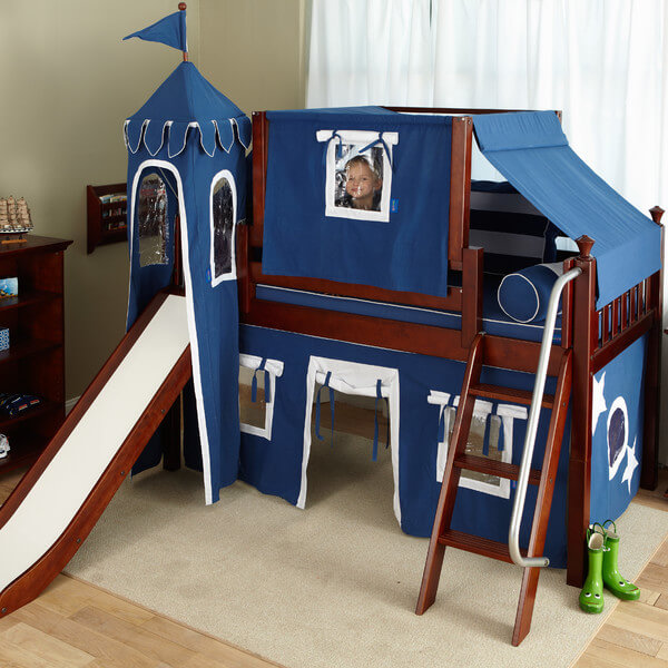 your little boy will feel like a real prince in his castlelike loft bed you can also arrange the high mid and low loft beds according to