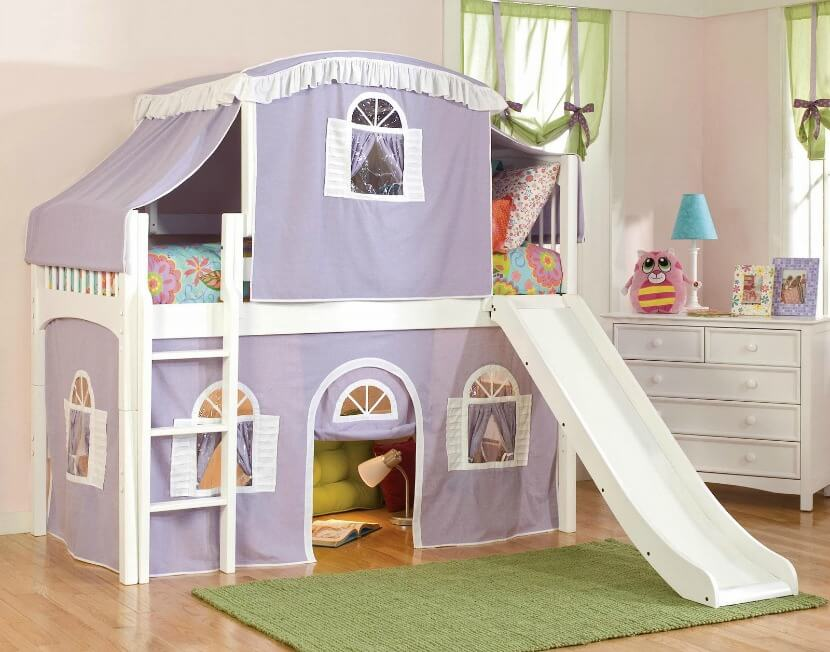 this tent bedu0027s sturdy wood and cheerful white finish makes it ideal for your little