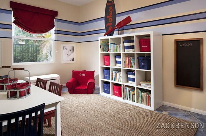 A reading nook can be built in and designed with fabulous details, but it can also be a simple and functional space where your children will feel comfortable and secluded so they can focus.