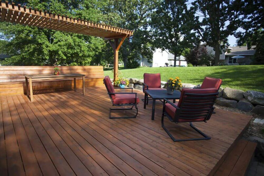 Deck Design Ideas horizontal deck railing the advantages and disadvantages homesfeed 26 Floating Deck Design Ideas