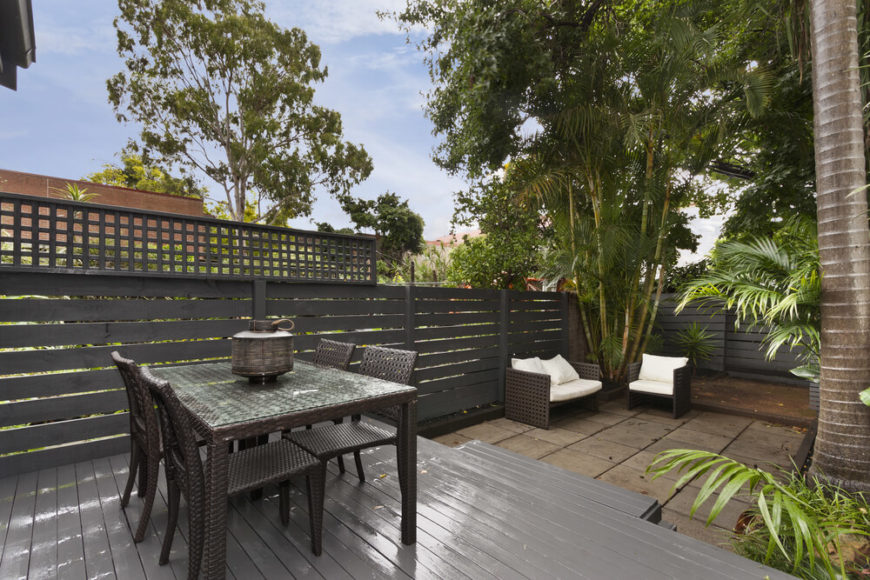 26 floating deck design ideas for Grey decking garden ideas