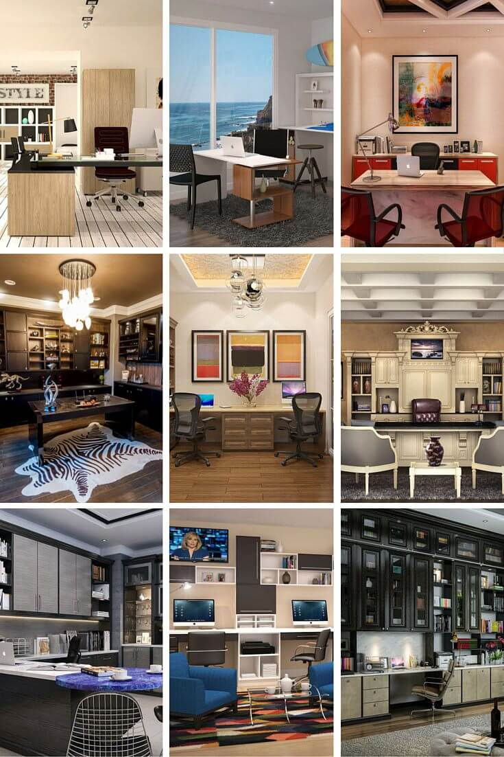 all offices in this gallery designed and created by closet factory