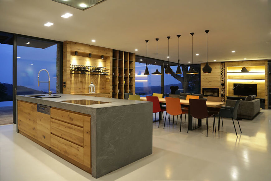 Rustic Wood and Stone Accent This Modern Home Interior