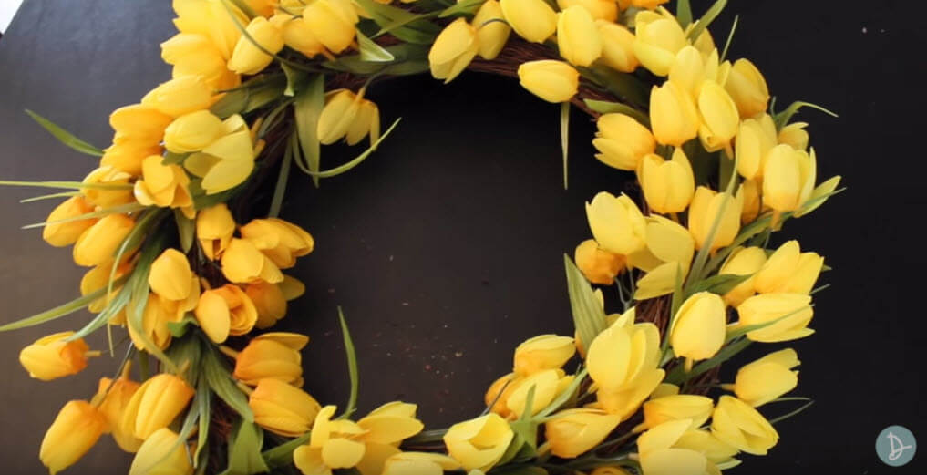 spring front door wreathsDIY Spring Flower Door Wreath DIY Video and Tutorial