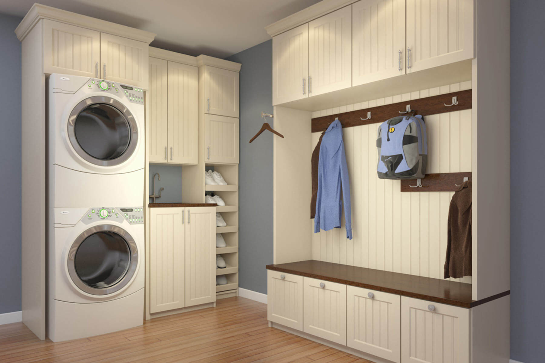 10 stellar laundry room designs by closet factory Laundry room blueprints