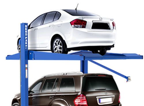 Keep your cars in the confines of your home by adding parking lifts to your garage.