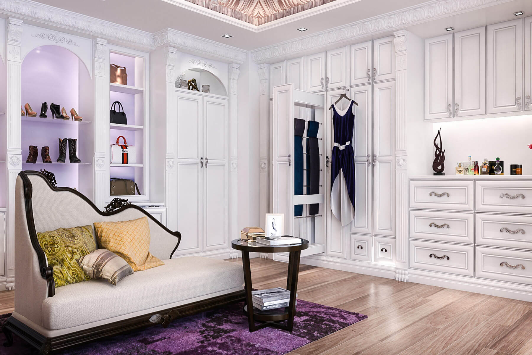 67 reach in and walk in bedroom closet storage systems for Bedroom walk in closet designs