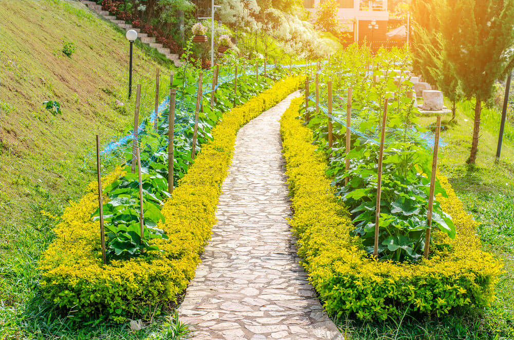75 garden path ideas and designs pictures for Rosary garden designs