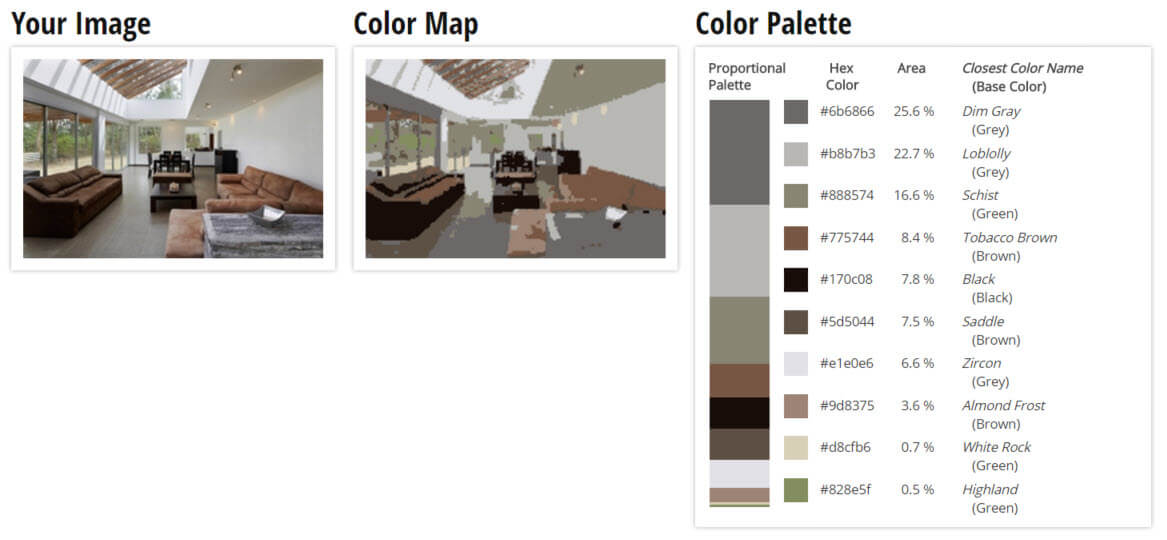 Try Out This Color Palette For Grey And Brown Living Room Scheme