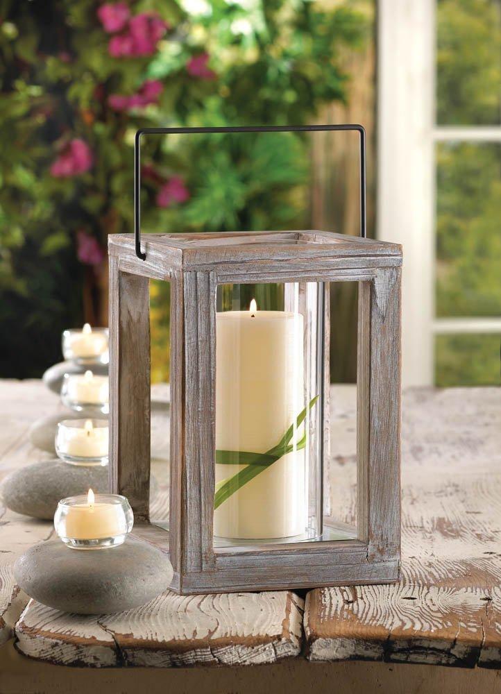 Wooden Candle Lit Lanterns for Garden