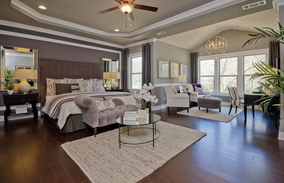 Master bedrooms with a sitting area sofa chairs chaise lounge Master bedroom with sitting area floor plans