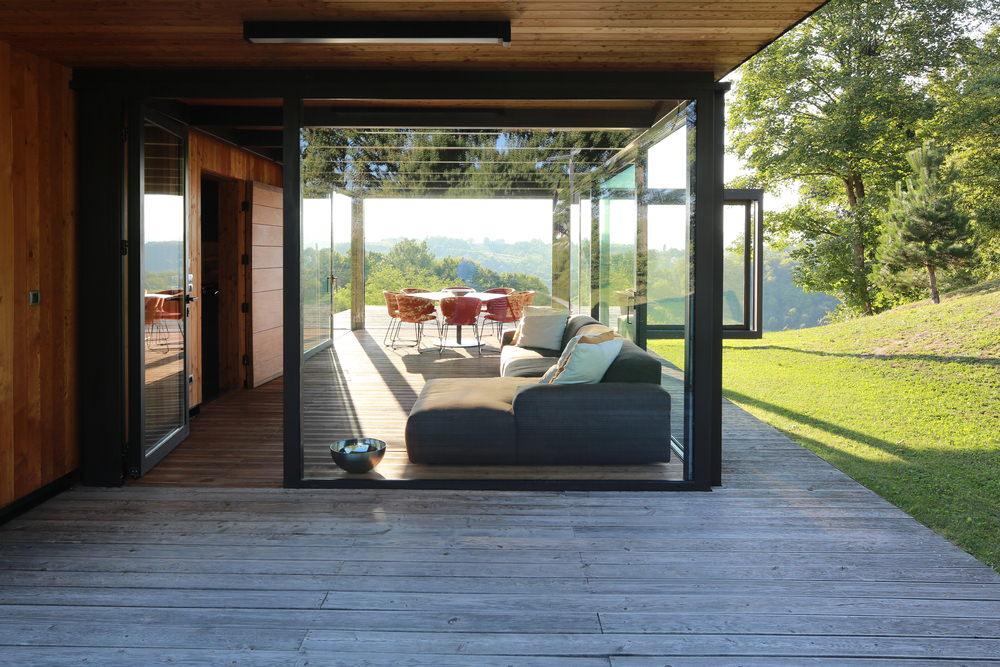 Glass Home Exterior