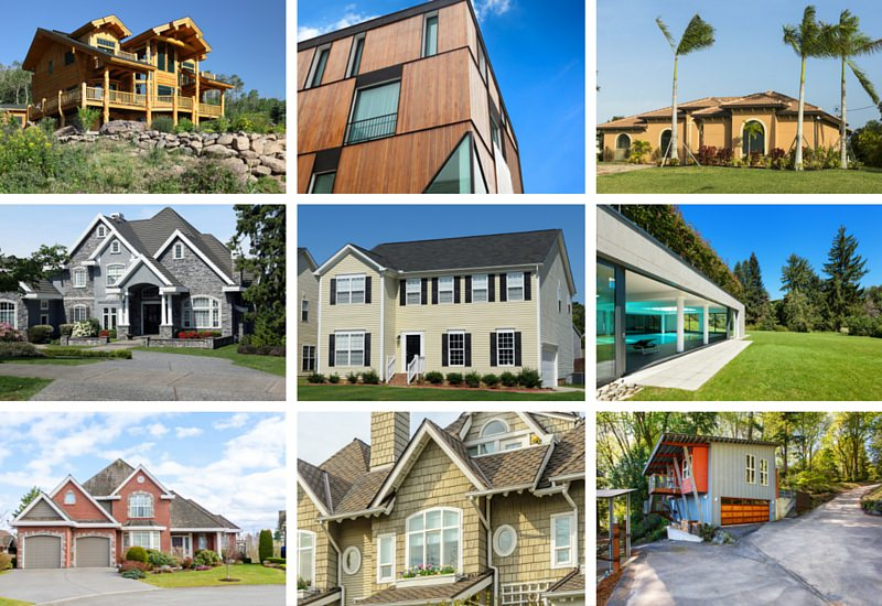 12 types of home exteriors photos prices pros cons for Pictures of different homes