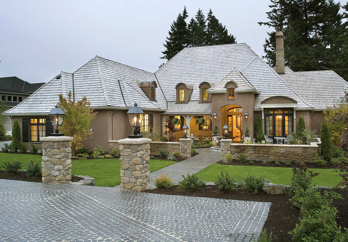 32 types of home architecture styles modern craftsman for Modern french country house plans