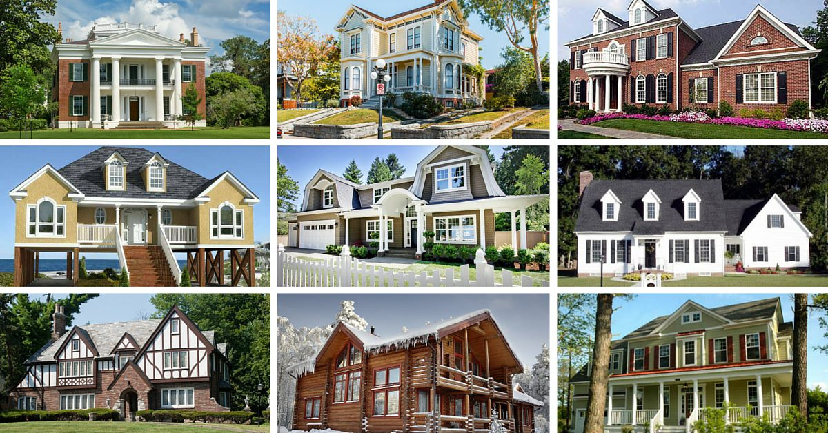 32 types of architectural styles for the home modern for Different types of houses in usa