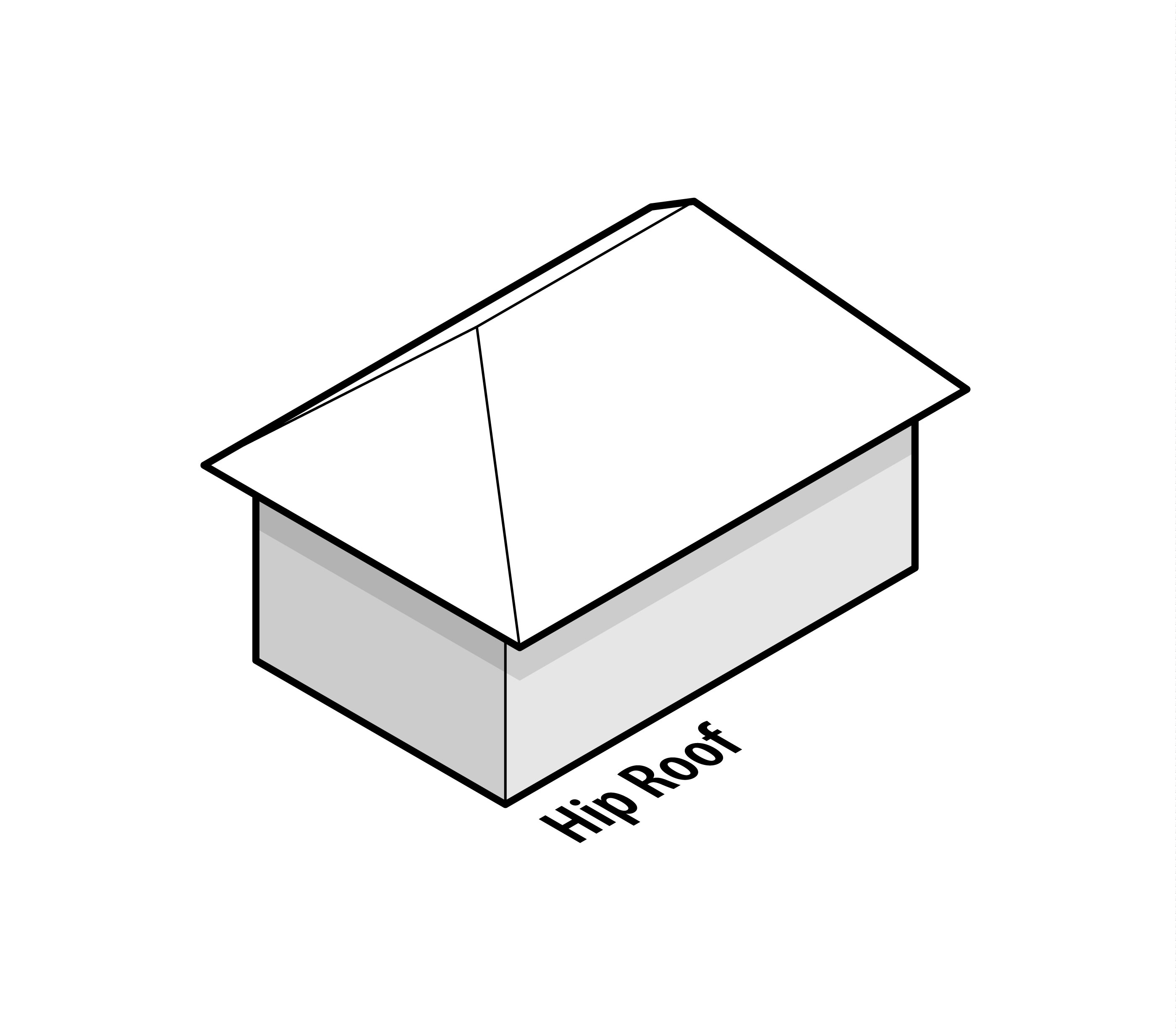 Hip roofs half hip roofs for Hip roof design plans