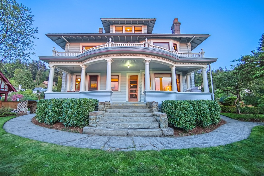 Stately American Foursquare home