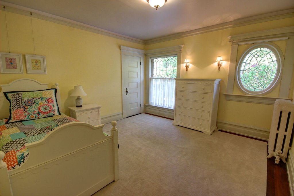 Large kids bedroom in an American Foursquare home