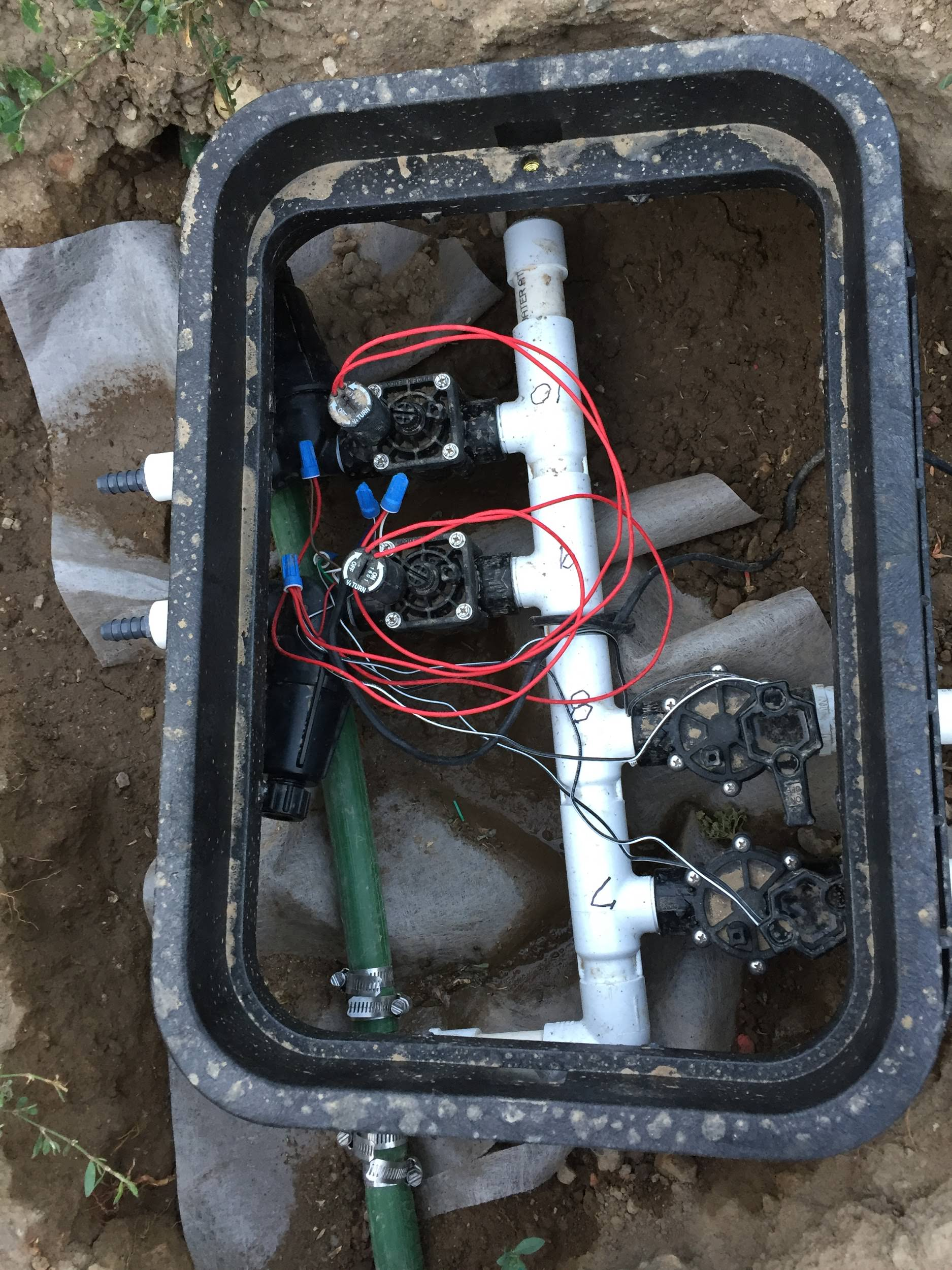 DIY sprinkler system timer set up
