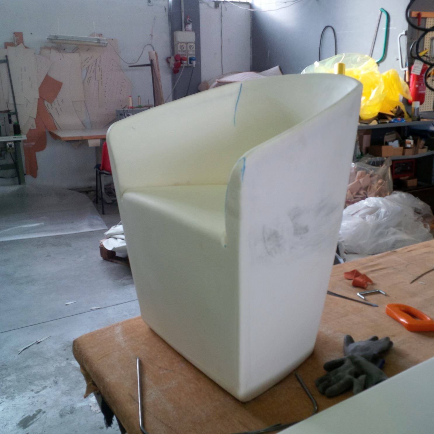 Fine-tuning chair mould