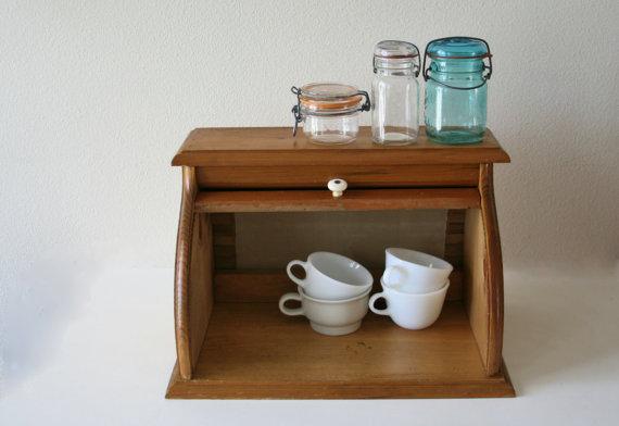 Custom wood roll-top bread box