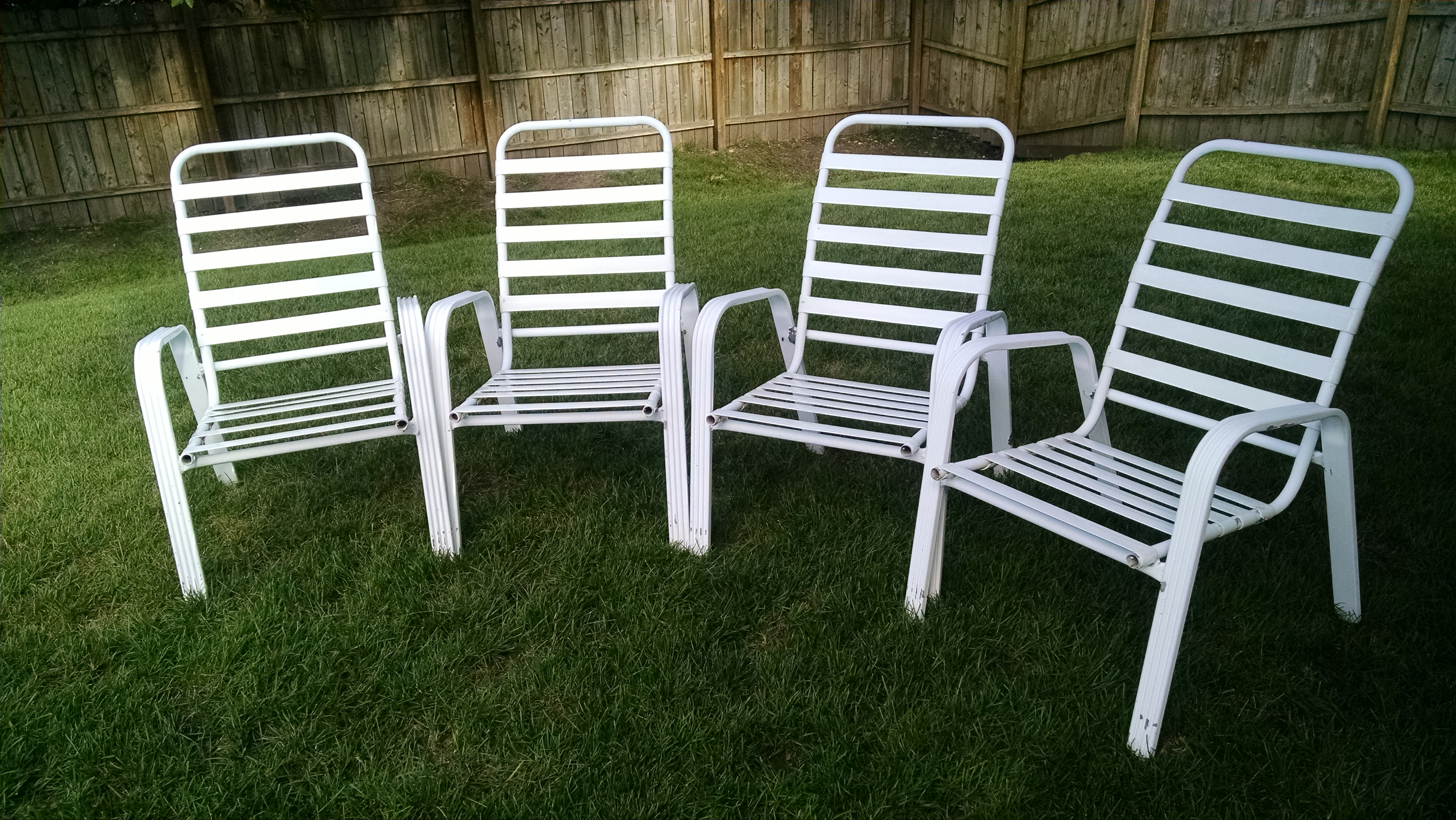 White Patio/Lawn Chairs - Set of 4