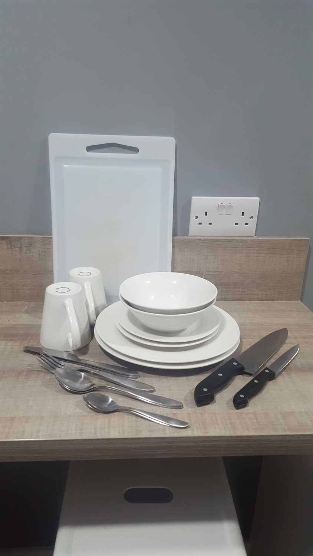Dish and Silverware Set