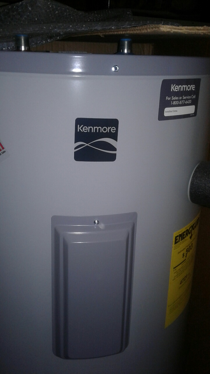 Electric water heater Kenmore