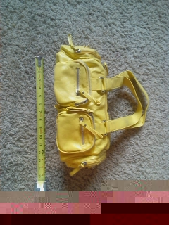 Yellow Purse, hand bag, Accessory