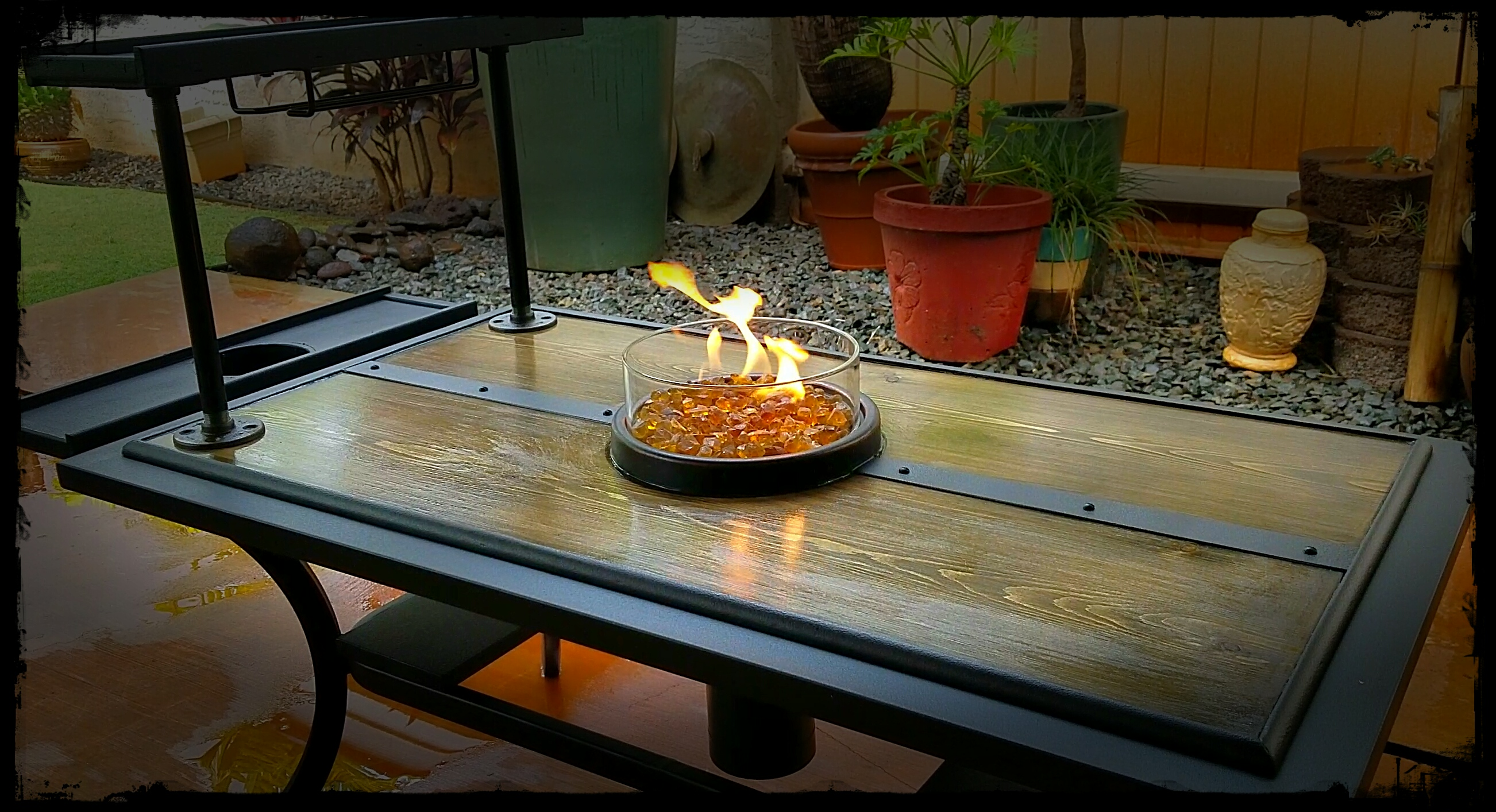 Handmade rustic fire table (Taking Offers!)