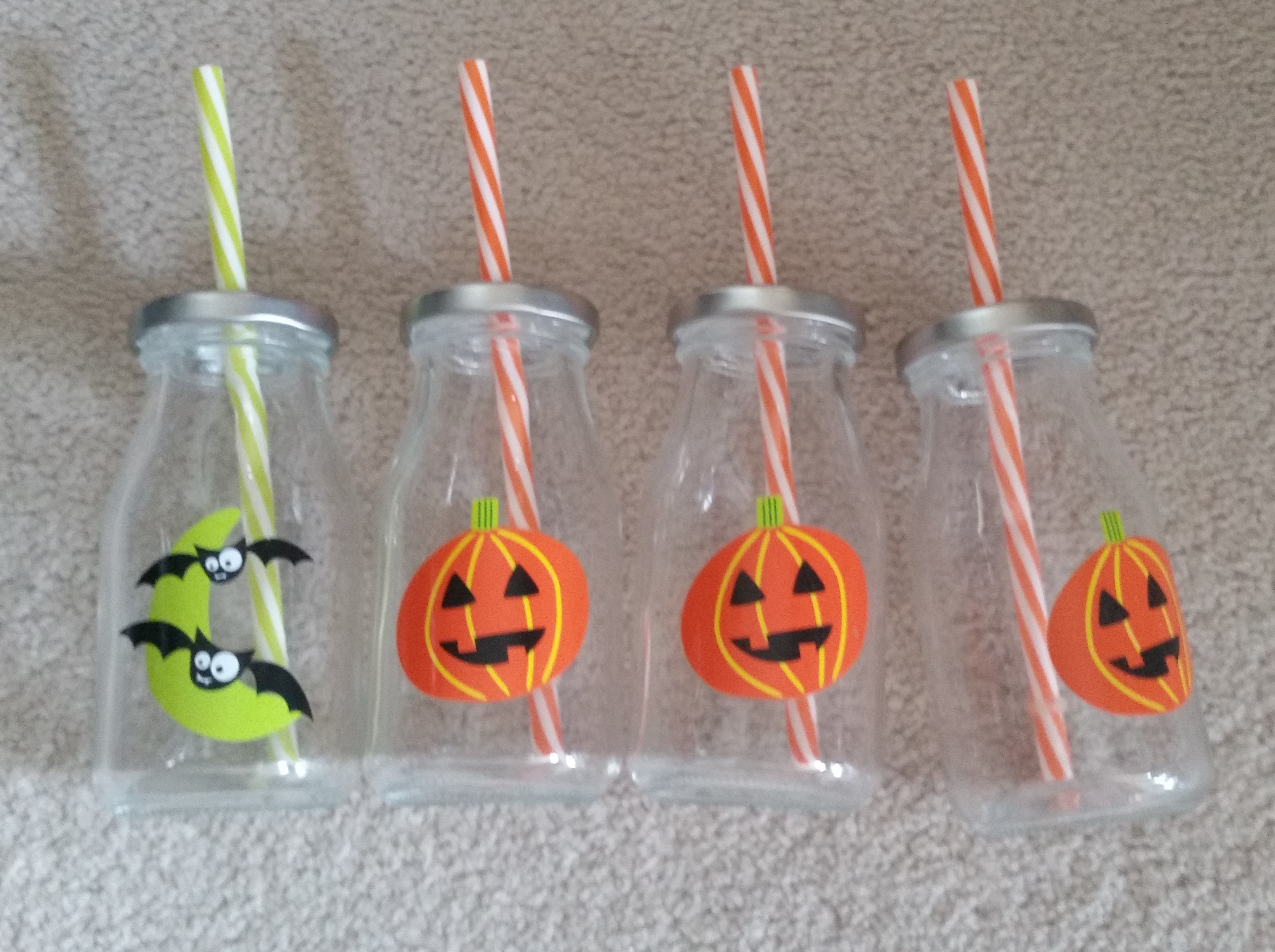081700105 Small Glass Bottles with Straw - $5