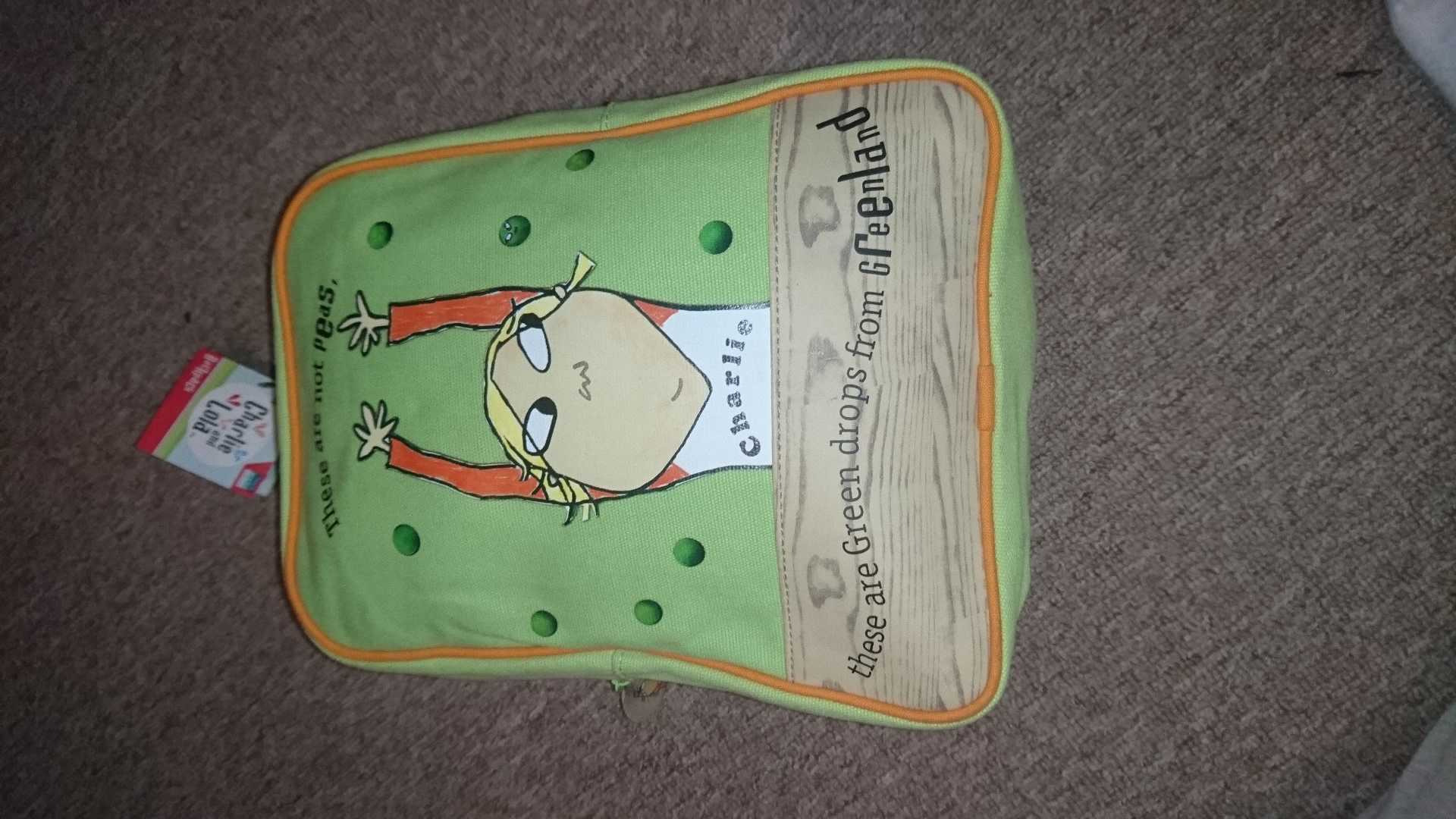 Charlie and lola backpack
