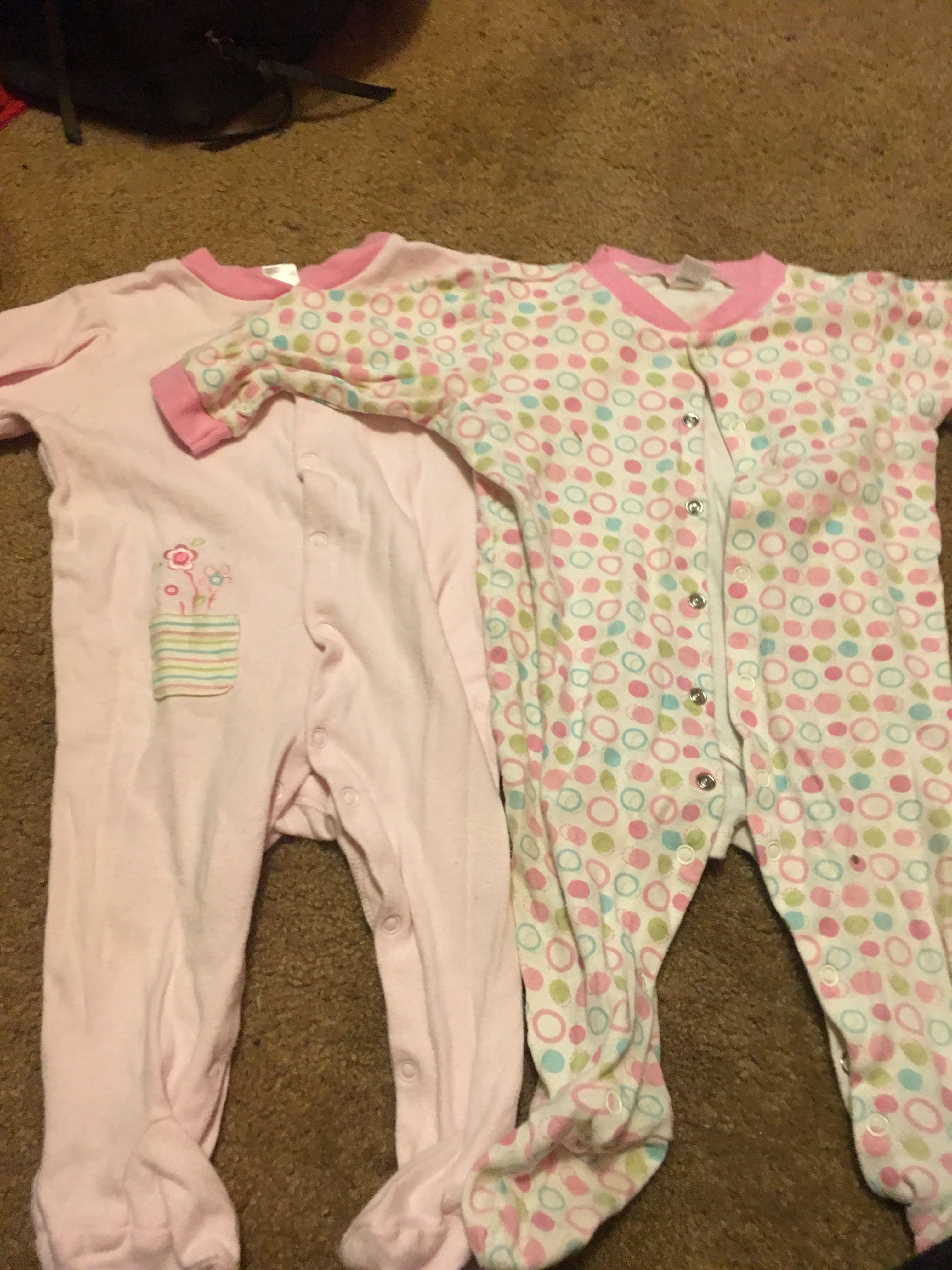 Babie night time onesies !!! 0-6 months