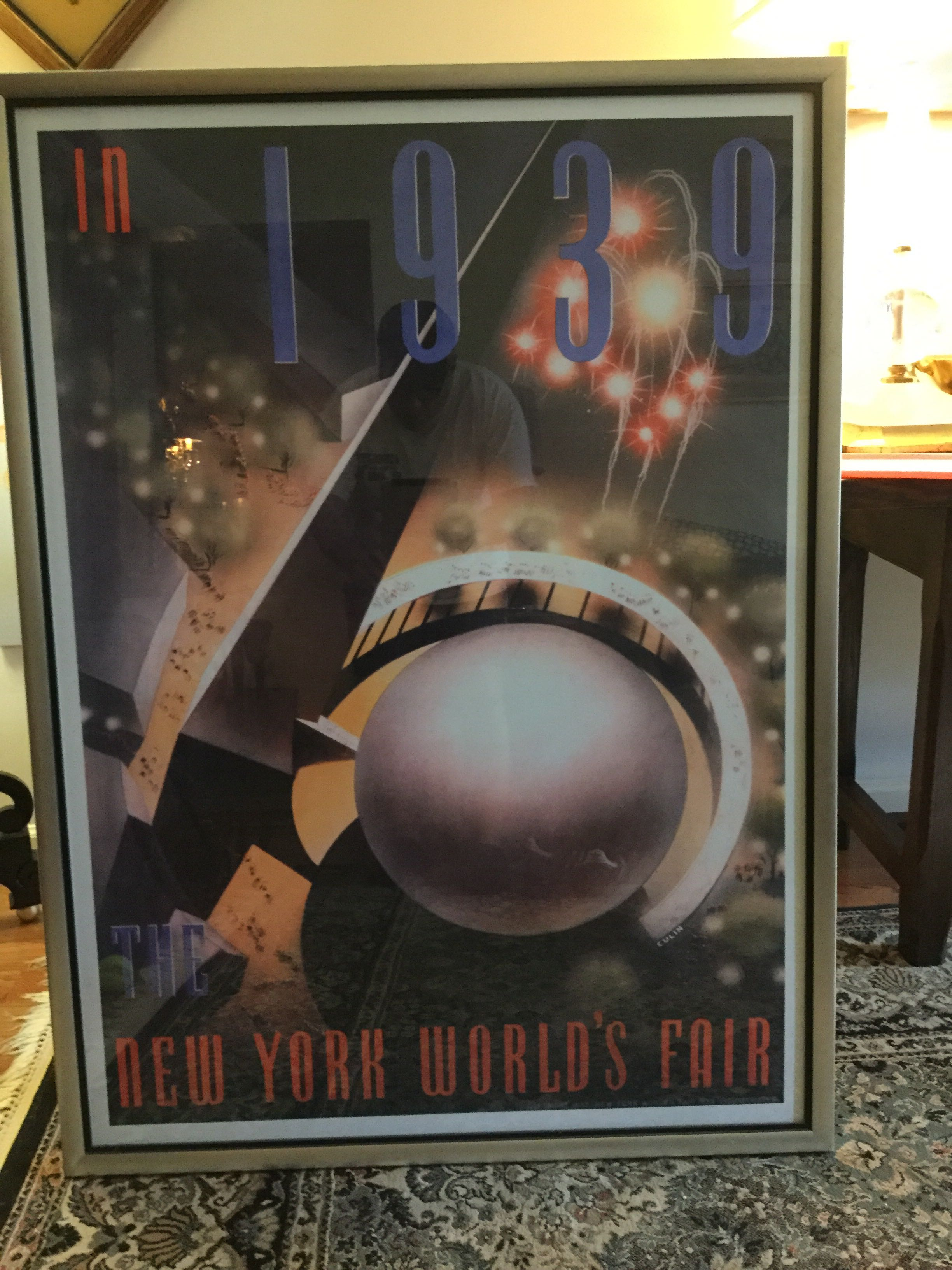 Authentic 1939 framed poster