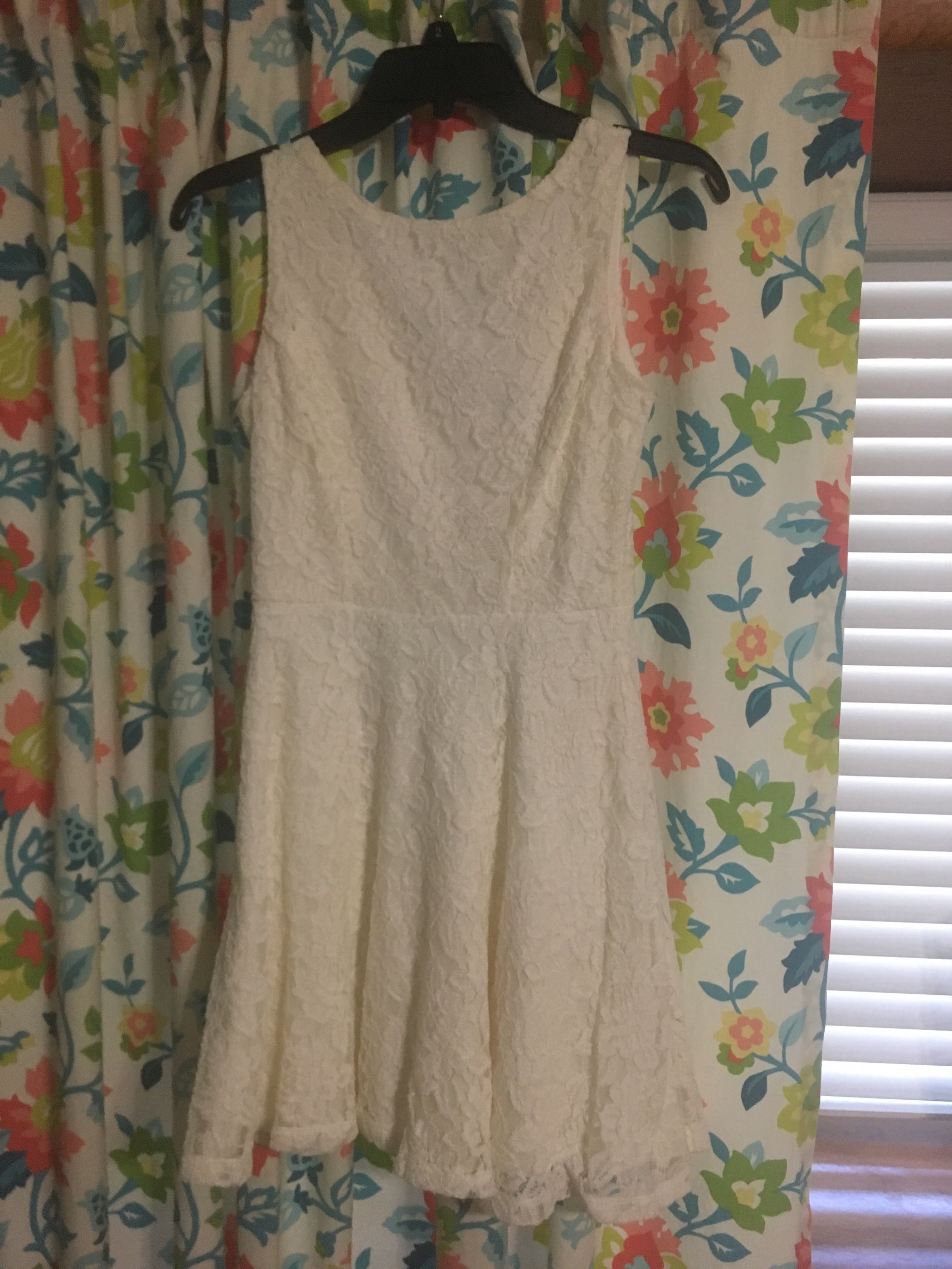 Cream colored formal dress