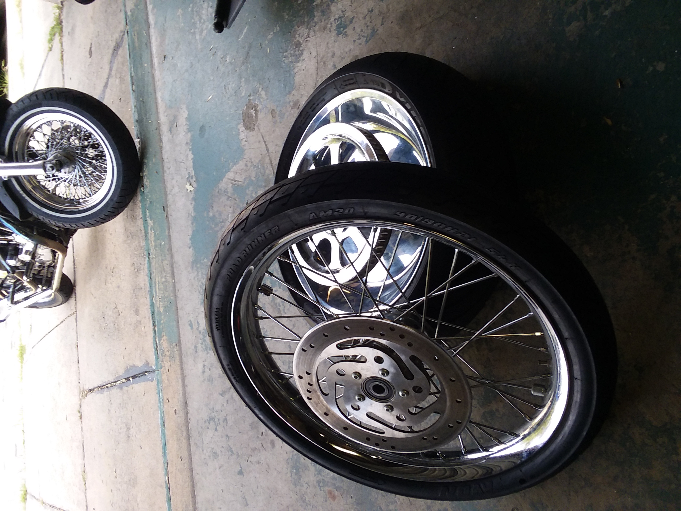 HD wide glide rims and tires