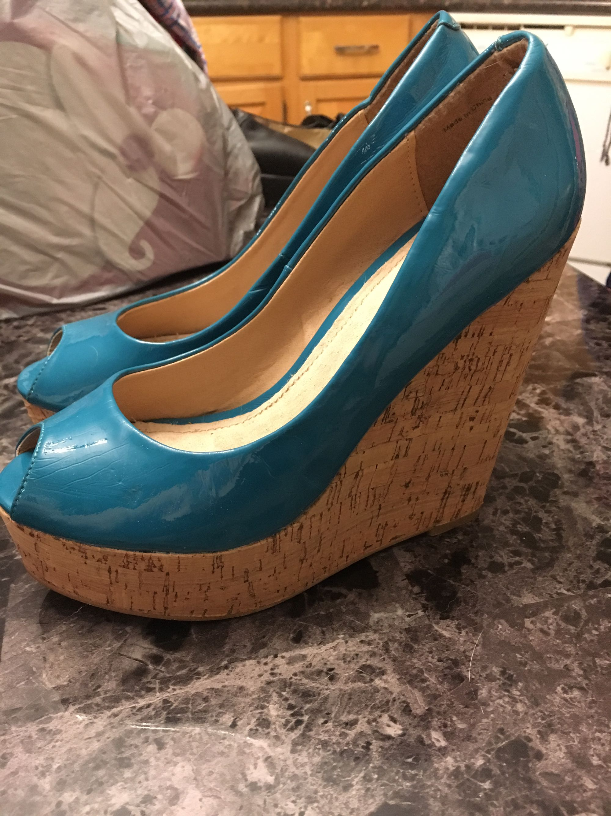 Blue Wedges - Size 7.5