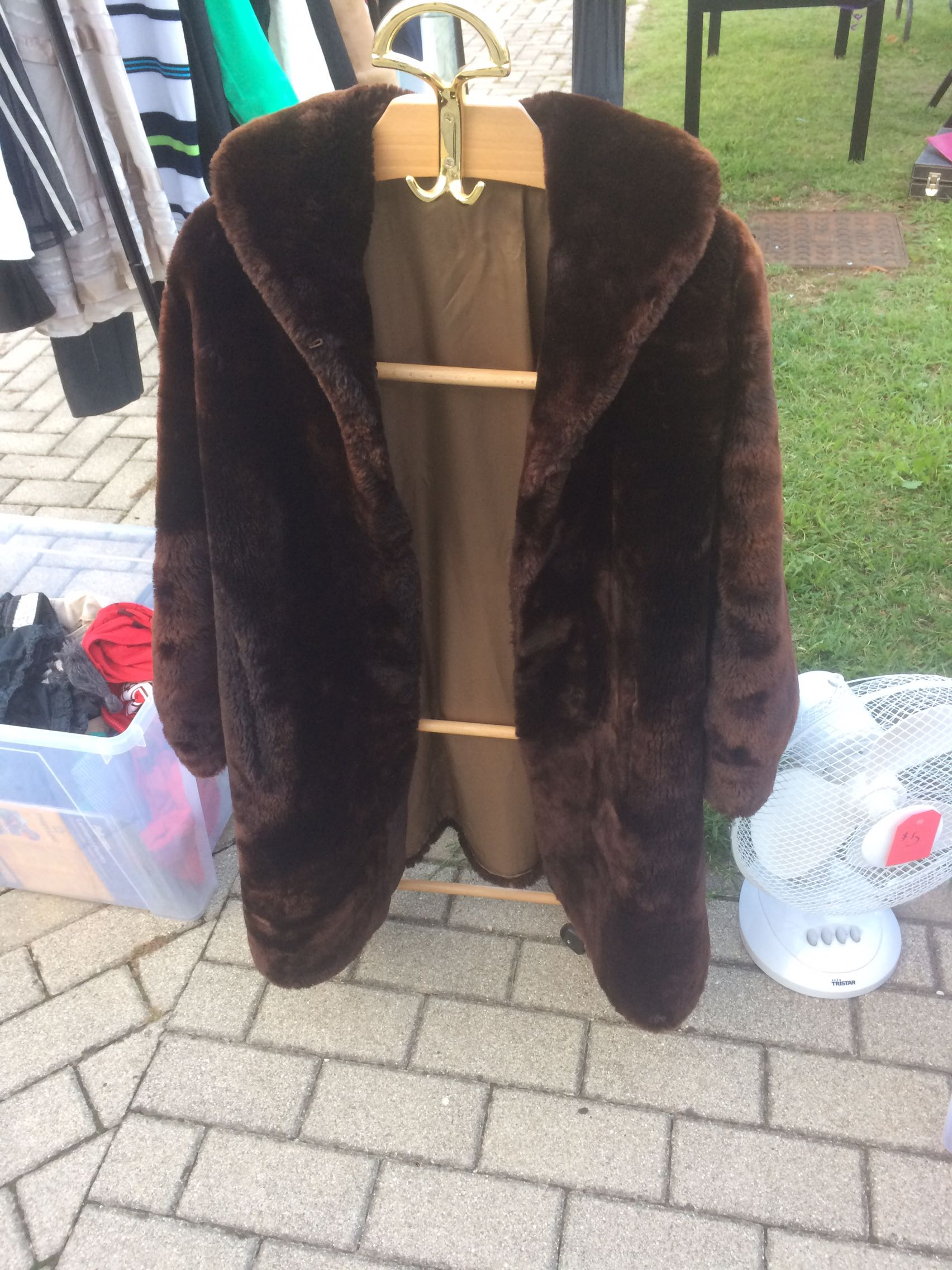 Brown fur coat Great condition