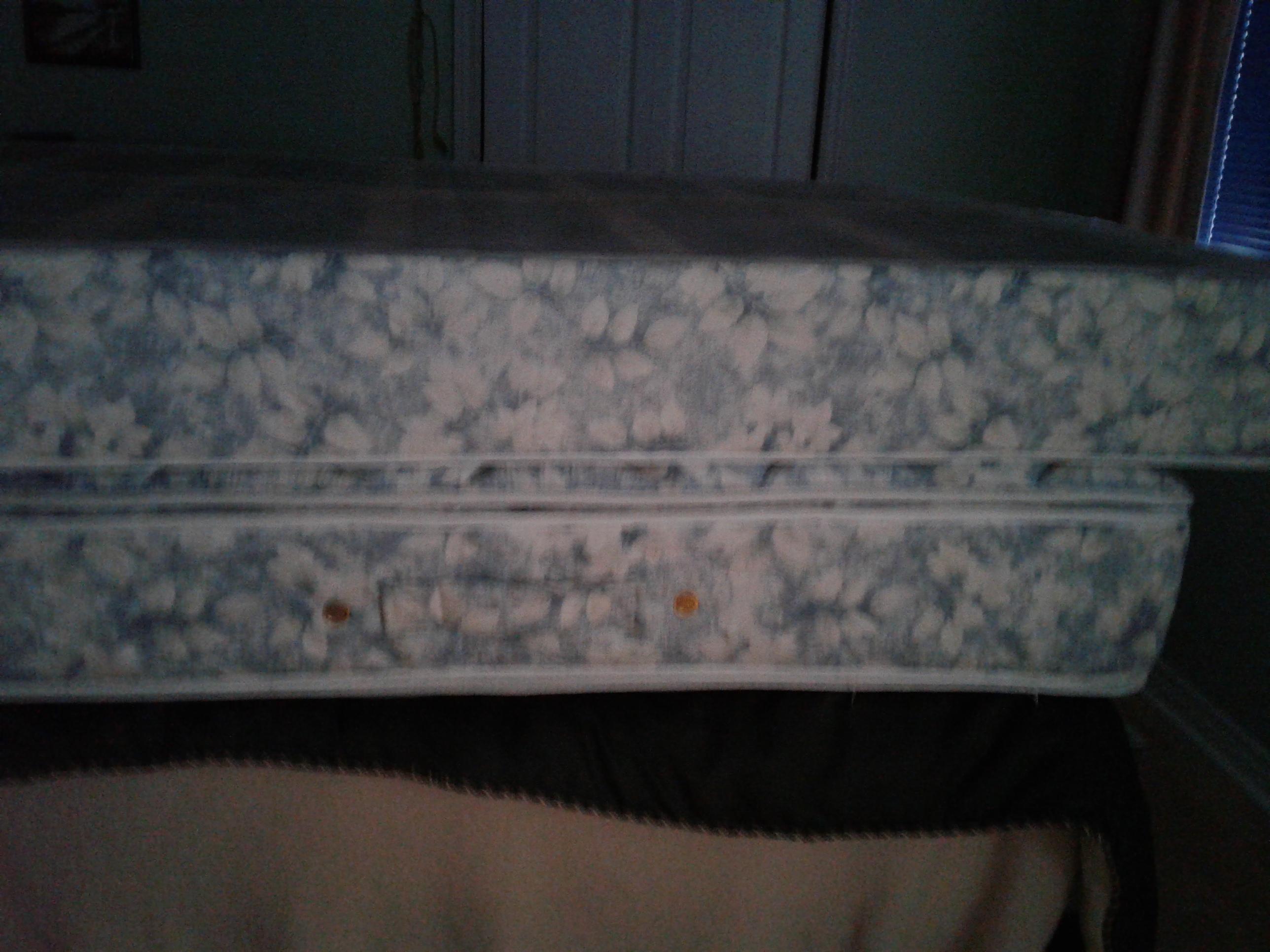 Queen mattress and box spring.