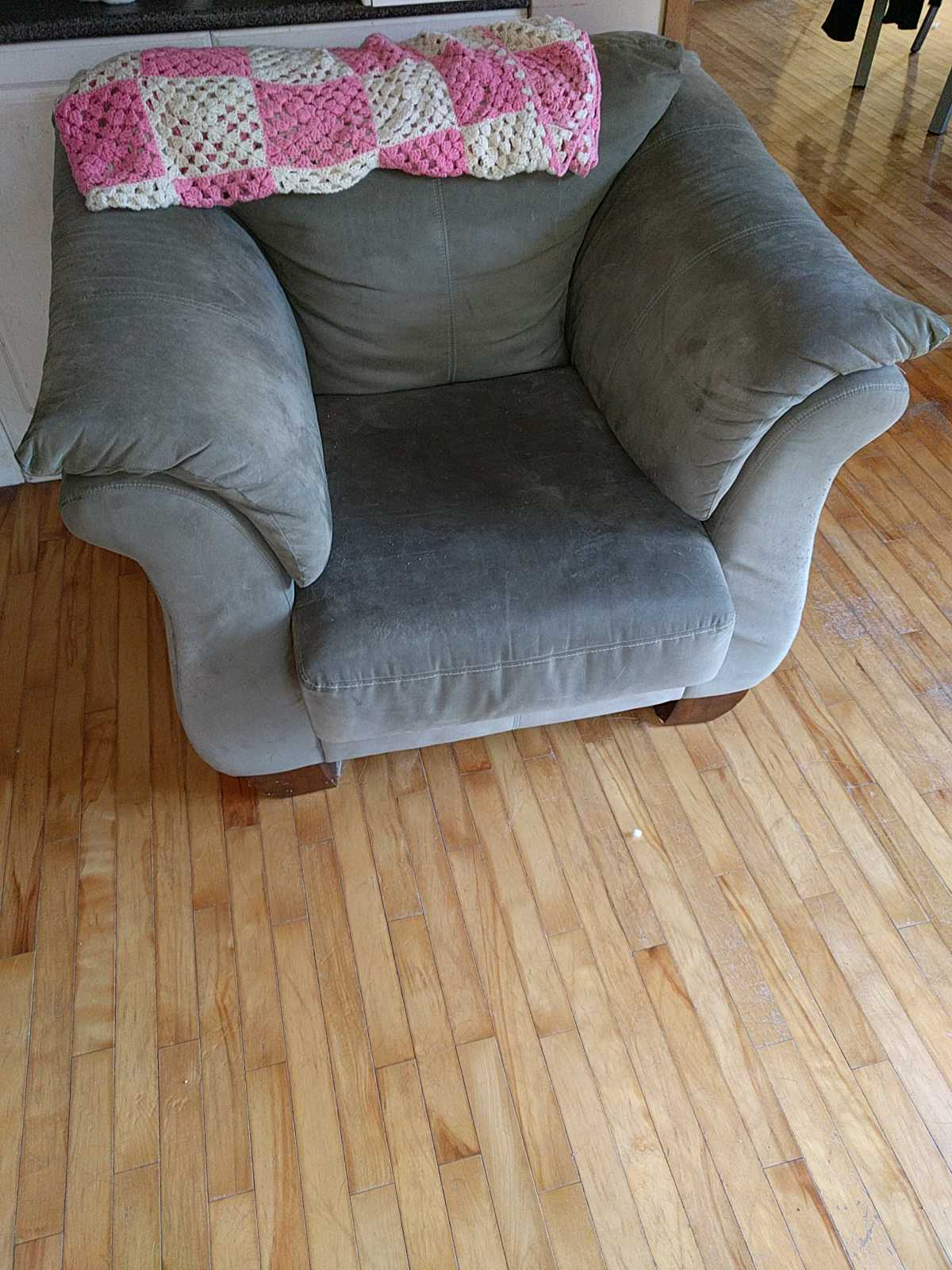Large comfy green chair