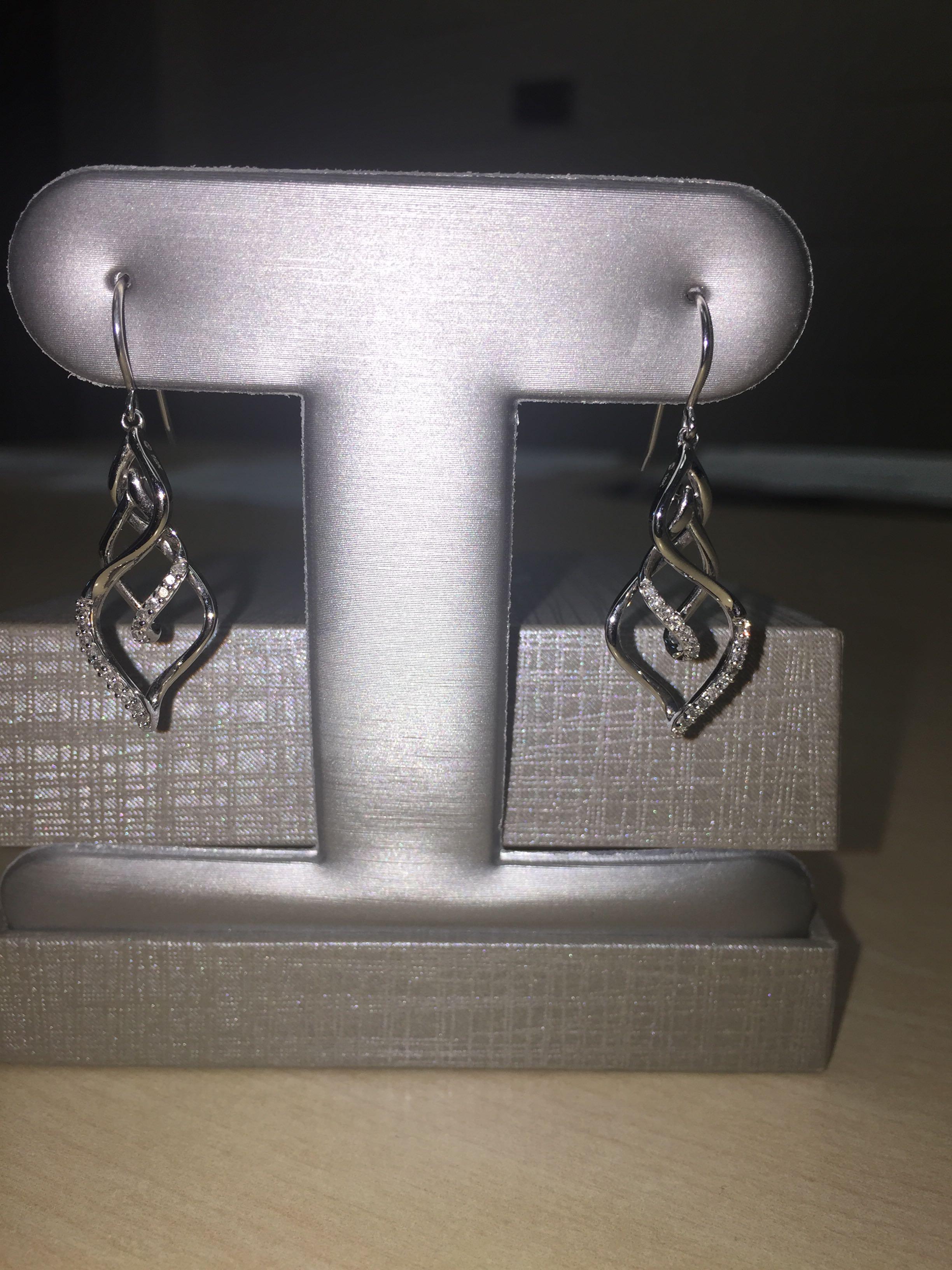 1/5 CTW 10K Diamond Earrings