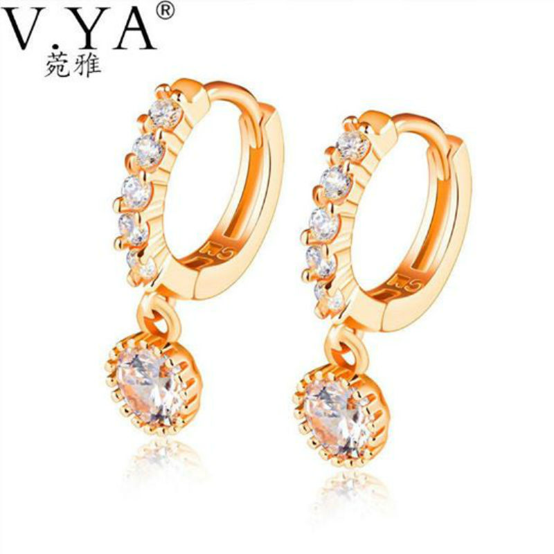 V.YA Luxury Rose Gold Color Earrings