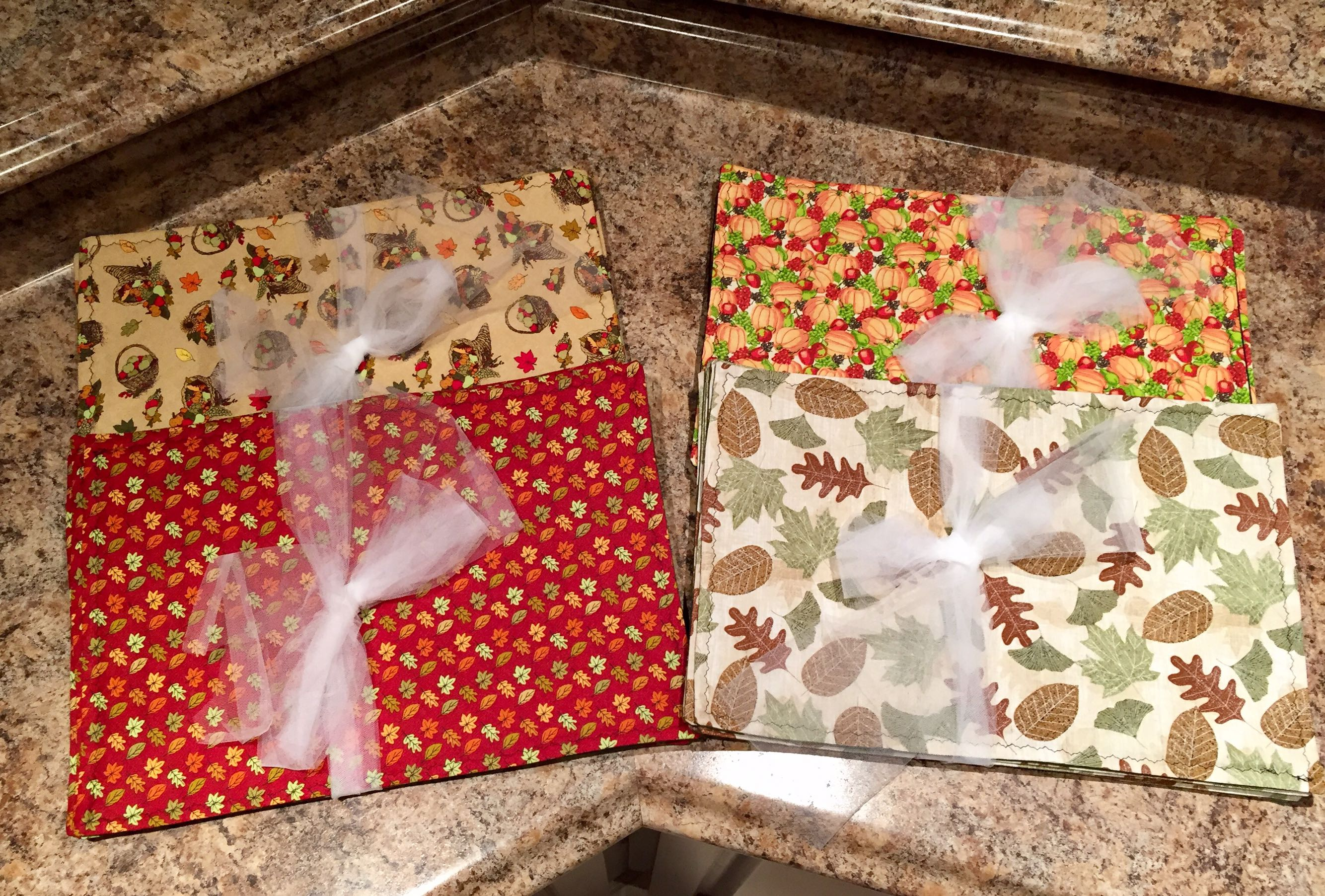 Homemade placemats